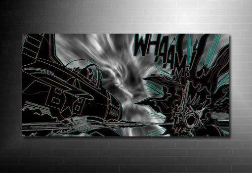 Dog Fight Canvas Art, Roy Lichtenstein canvas, Roy Lichtenstein Pop Art