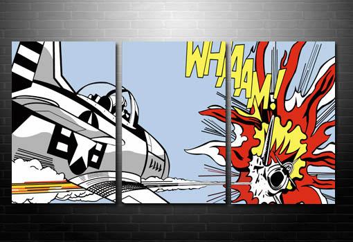Dog Fight Canvas Art, Roy Lichtenstein canvas, Dog fight Pop Art