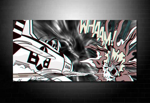 Dog fight Pop Art, Roy Lichtenstein Pop Art