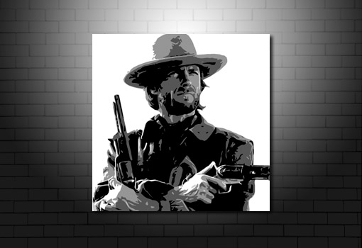 Clint Eastwood Movie Art, clint eastwood western print, clint eastwood movie art, clint eastwood canvas wall art, clint eastwood art print