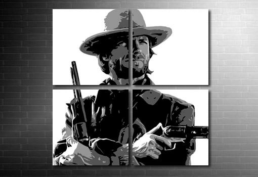 Clint Eastwood Movie canvas art, Clint Eastwood Movie Art, clint eastwood western print, clint eastwood movie art, clint eastwood art print
