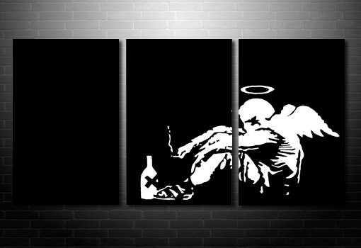 Fallen Angel banksy print, banksy canvas uk, banksy canvas painting, banksy art print, bansky poster