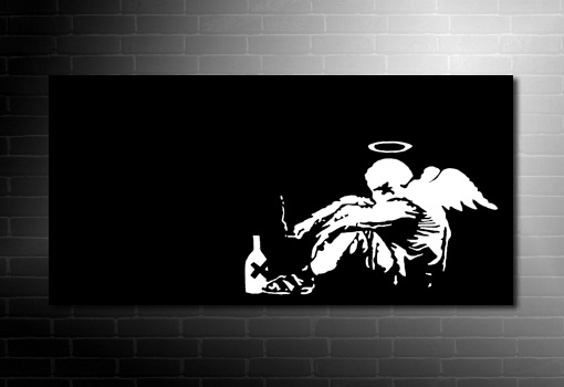 Banksy canvas fallen angel, banksy art print, banksy canvas prints, banksy prints uk, banksy modern art