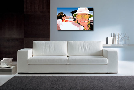 Fear and Loathing canvas,johnny depp wall art