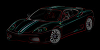 Ferrari 360 Canvas Art, Ferrari Wall Art, Ferrari Canvas Art Print