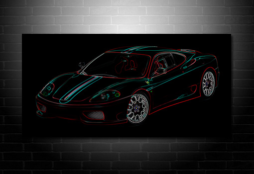 Ferrari 360 Canvas, Ferrari Print, Ferrari Wall Art, Ferrari Photo Art