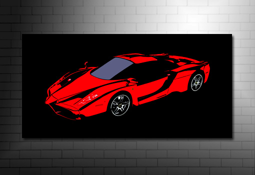 ferrari canvas, Ferrari Canvas Art, Ferrari canvas print