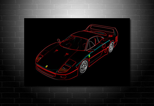 Ferrari wall art, ferrari photo canvas art, ferrari canvas art