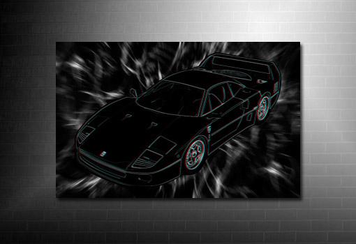 Ferrari F40 Canvas Art, Ferrari canvas print, 3d canvas art