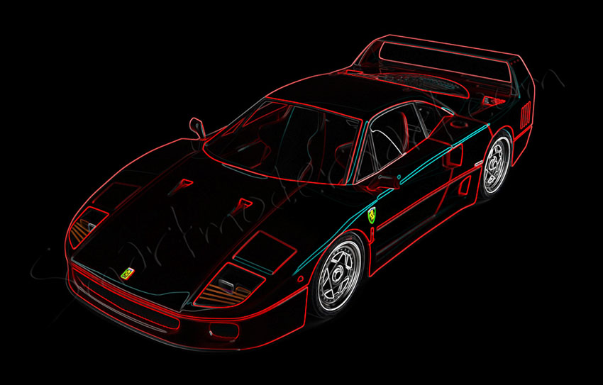 Ferrari F40 Canvas