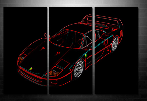 Ferrari Canvas Wall Art, Ferrari Art print, Ferrari Canvas Print