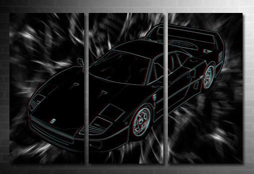 Ferrari wall art, 3d canvas art print, 3d canvas art, ferrari canvas