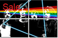 pink floyd canvas art, pink floyd wall art, pink floyd canvas