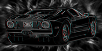 Ford GT Canvas Art, Ford Canvas Wall Art, 3d canvas art