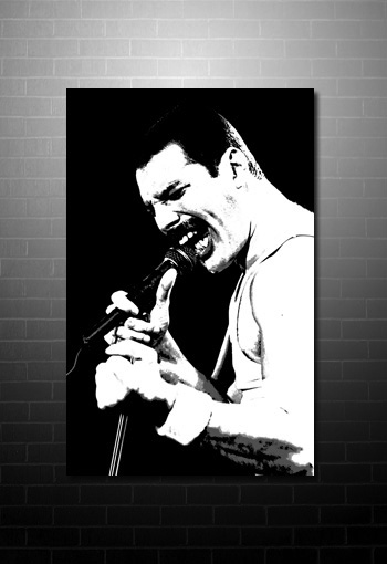 Freddie Mercury Canvas Art print, queen band canvas, queen canvas art uk, freddie mercury wall art, freddie mercury pop art