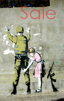banksy picture frisk, banksy frisk canvas, banksy art uk, banksy wall art, banksy israel canvas
