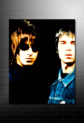 oasis pop art, oasis canvas art print, music canvas prints uk, liam and noel gallagher canvas, noel gallagher print, oasis canvas prints