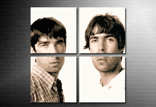 noel gallagher canvas art, liam gallagher print, gallagher brother canvas, oasis canvas print, liam gallagher art print, music canvas pictures