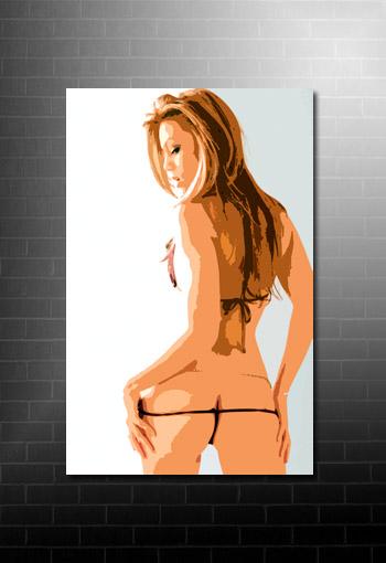 Women Canvas Print, Women On Canvas, Sexy Pose Print, Girls On Canvas