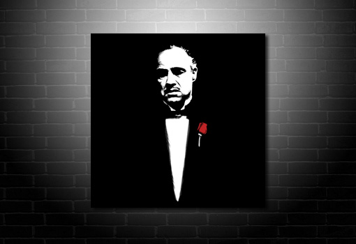Godfather Canvas Print, godfather movie art print, godfather canvas art, godfather movie wall art, godfather pop art