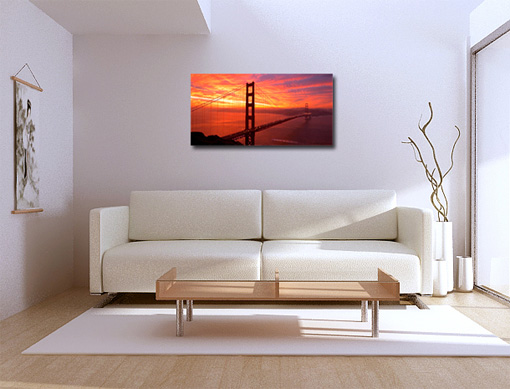 cityscape picture, golden gate bridge canvas art