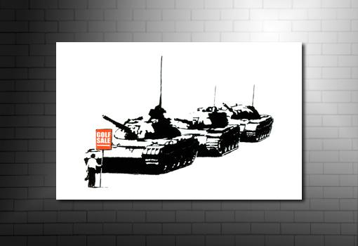 Banksy Canvases Golf Sale, banksy canvas print, banksy modern art, banksy art print, banksy art