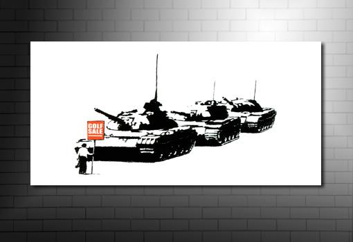 Banksy Golf Sale canvas art, banksy graffiti art, banksy wall art, bansky poster, banksy art uk
