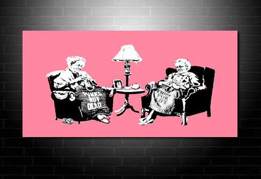 Banksy Grannies canvas art, Banksy Grannies canvas, banksy prints uk, banksy modern art