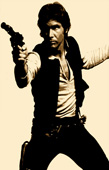 star wars canvas art, hans solo canvas print, hans solo wall art, star wars movie art, movie art print