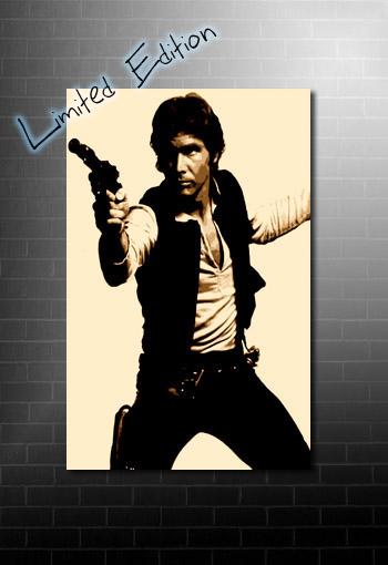Hans Solo Canvas, star wars movie art, star wars canvas print, star wars canvas art, hans solo movie print