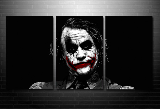 batman canvas art print, batman wall art, the joker canvas art