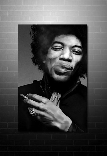 Jimi Hendrix Canvas, jimi hendrix wall art, jimi hendrix pop art, jimi hendrix print, music canvas art uk