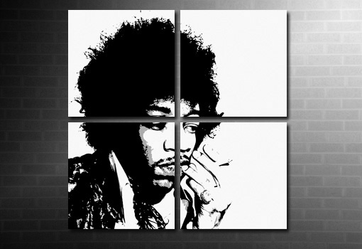 Jimi Hendrix Wall Art print, Jimi Hendrix Canvas, jimi hendrix pop art, jimi hendrix print, canvas art prints uk