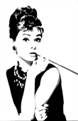 audrey hepburn canvas picture, hepburn movie art, hepburn fan art, wall art uk, movie art uk