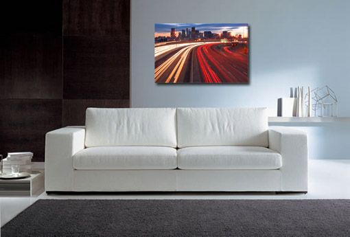 cityscape canvas art, motorway light on canvas