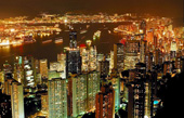 hong kong skyline canvas, hong kong wall art