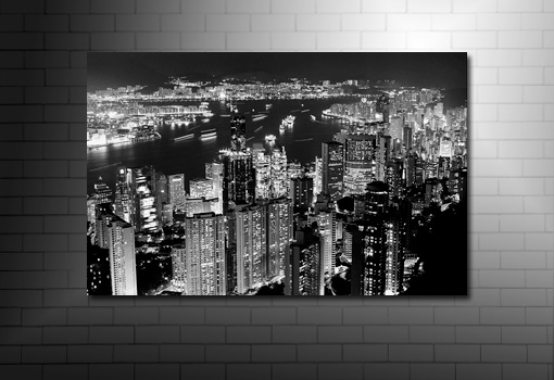 hong kong canvas print, hong kong canvas art