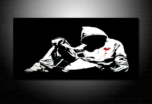 Banksy Hoody canvas art, banksy canvas painting, banksy canvas, banksy canvas picture