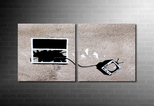 Banksy hotel yob wall art, Banksy hotel yob canvas, banksy tv window photo