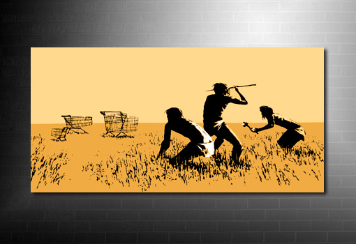 Banksy hunter canvas art Print