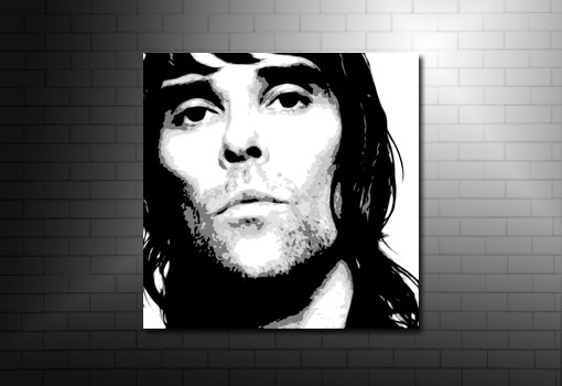 ian brown print, stone roses wall art, ian brown canvas print, ian brown pop art, ian brown wall art