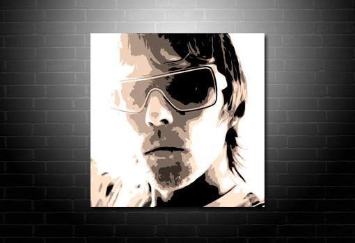 Ian Brown wall art, ian brown pop art, ian brown canvas print, ian Brown print