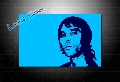 stone roses canvas, ian brown canvas art, ian brown wall art, canvas art uk, ian brown pop art
