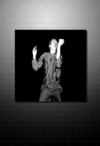 Ian Curtis Wall Art canvas print, ian curtis wall art, joy division canvas painting, ian curtis pop art