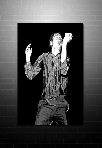Ian Curtis Wall Art, ian curtis modern wall art, ian curtis canvas prints uk, ian curtis music canvas, joy division canvas painting