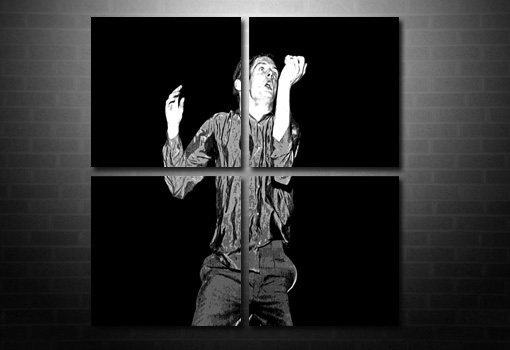 Ian Curtis canvas art, ian curtis wall art, ian curtis canvas prints, joy division canvas painting, ian curtis pop art