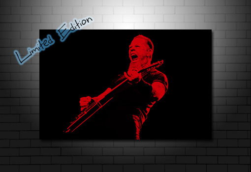 James Hetfield metallica canvas, metallica canvas art, metallica canvas print, metallica wall art, james Hetfield canvas art