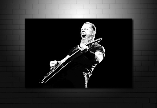 James Hetfield Canvas Art print, metallica canvas art, metallica wall art, james hetfield wall art, metallica canvas print