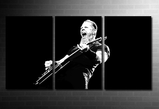 James Hetfield wall art, metallica canvas art, metallica canvas print, metallica wall art