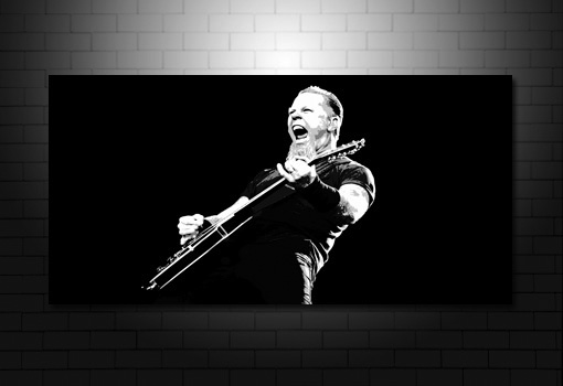 metallica canvas art, metallica canvas print, metallica wall art, james Hetfield art, james Hetfield canvas art